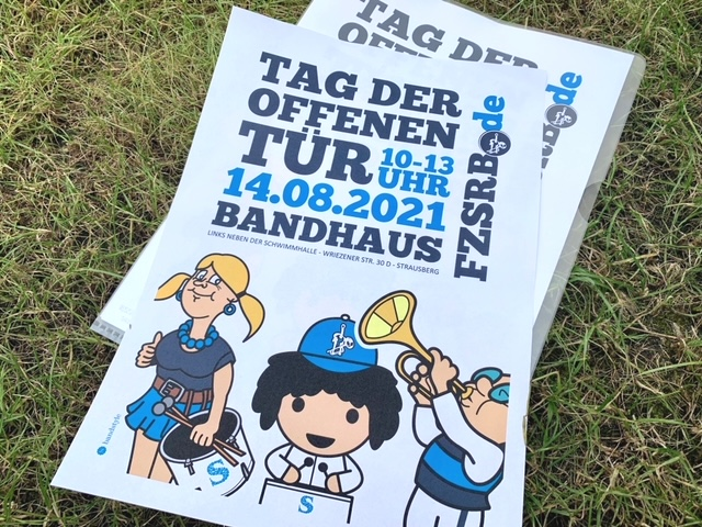 Fanfarenzug-Strausberg-Tag-der-offenen-Tuer-Plakat-2021